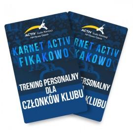 Trening personalny dla członków klubu