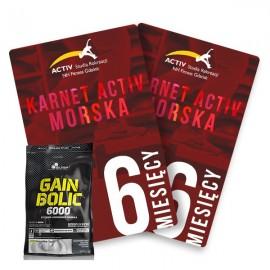 Karnet 6-miesięczny + odzywka Gain Bolik Olimp 6800g GRATIS