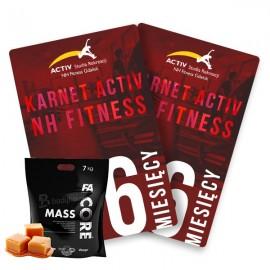 Karnet 6-miesięczny + odzywka Mass Core FA 7kg