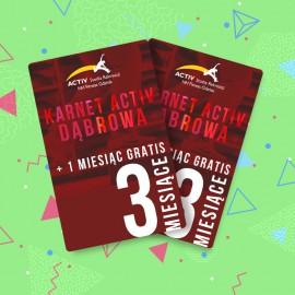 Karnet 3-miesięczny + 1 miesiąc GRATIS (Dąbrowa)