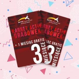 Karnet 3-miesięczny + 1 miesiąc GRATIS (Grabówek)