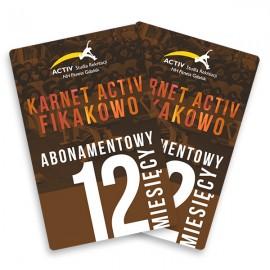 Karnet 12-miesięczny abonamentowy