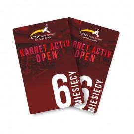 Karnet 6-miesięczny open (wszystkie siłownie)