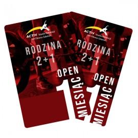 Karnet Rodzinny 2+1 1mc open