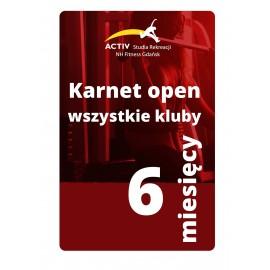 PROMOCJA-Karnet 6-miesięczny (wszystkie klubu)